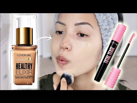BRAND NEW | COVERGIRL VITALIST HEALTHY ELIXIR FOUNDATION & TOTAL TEASE MASCARA REVIEW