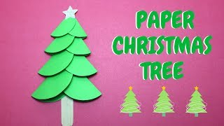 How To Make A Paper Christmas Tree | Christmas Ideas | Paper Craft
