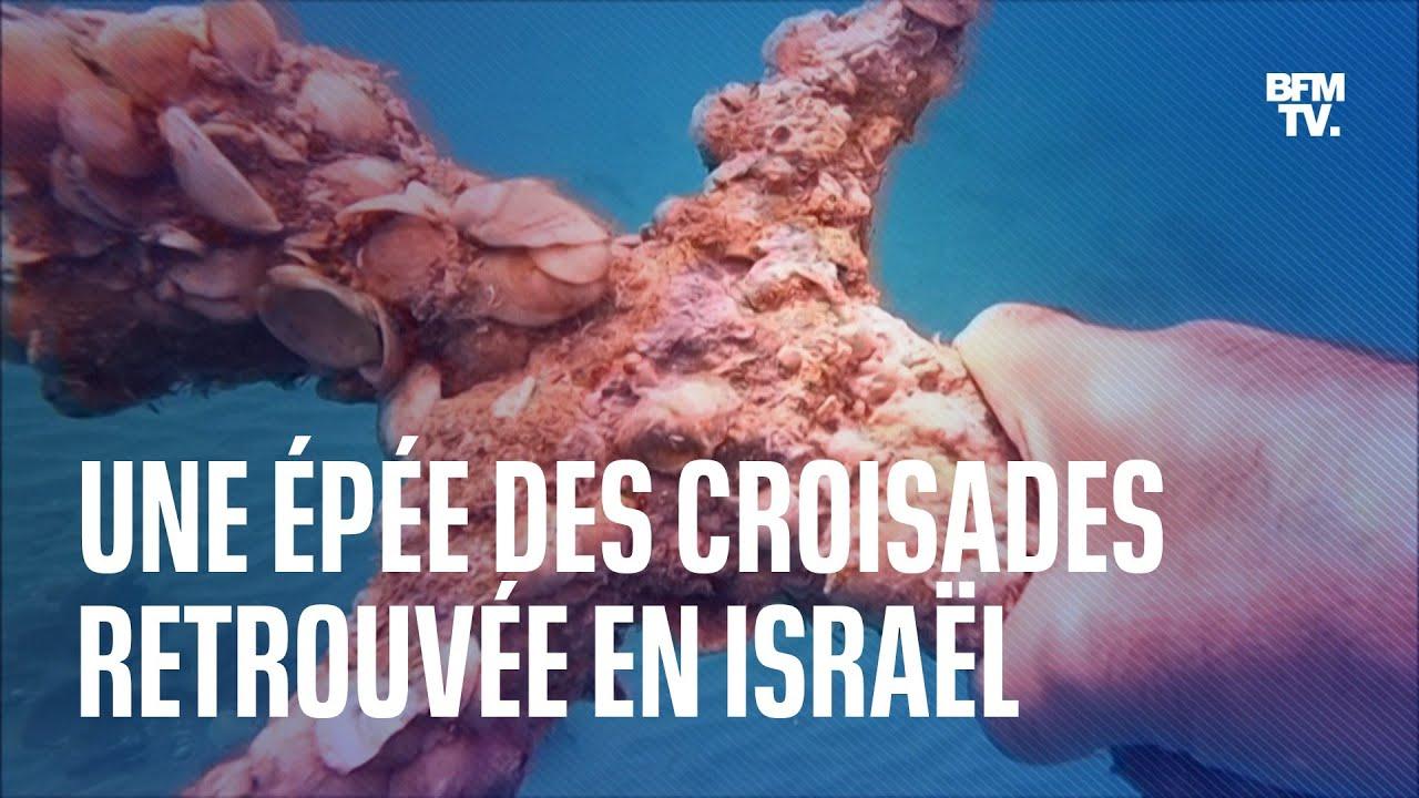 Une épée de l'époque des Croisades retrouvée par un plongeur au large d'Israël