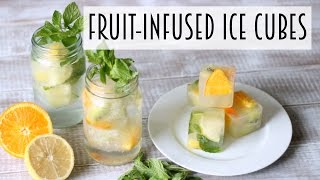How To Drink More Water | Fruit-Infused Skinny Dip Ice Cubes!