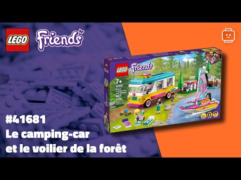 Vidéo LEGO Friends 41681 : Le camping-car et le voilier de la forêt
