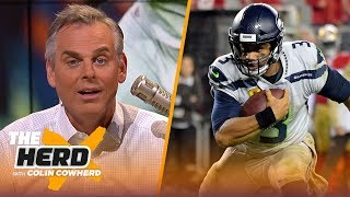 Colin is in awe of Russell Wilson's performance, isn't worried about Garoppolo | NFL | THE HERD