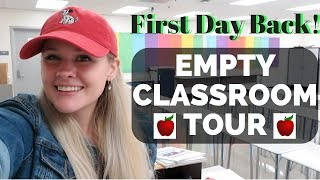 Empty Classroom Tour! Teacher's First Day Back at School   Classroom Setup!