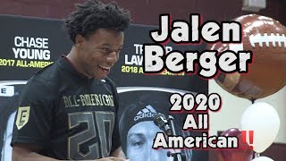 Jalen Berger | Don Bosco Prep (N.J.) | 2020 All-American Bowl Selection