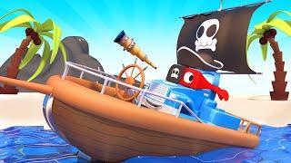 Пиратский грузовик спасает малышей! - Трансформер Карл в Автомобильный Город 🚚 ⍟ детский мультфильм