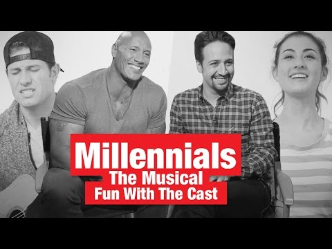 Fun With The Rock, Lin-Manuel Miranda & The Cast of