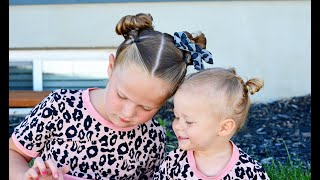 Matching Sister Hairstyles For Toddler And Older Sibling