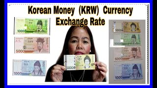 SOUTH KOREA ( KOREAN MONEY  KRW ) CURRENCY EXCHANGE RATE GUIDE II SHINE WEATHER