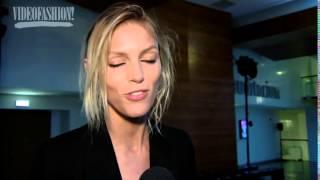 Model Anja Rubik at Anthony Vaccarello - Paris Fashion Week - Fall 2016