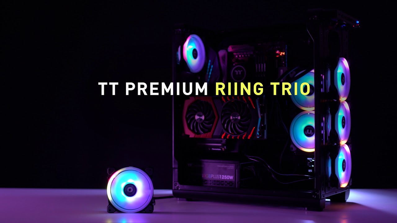 Thermaltake Global Riing Trio 12 Rgb Radiator Fan Tt Premium To Control The Speed Without Switch You D Fans