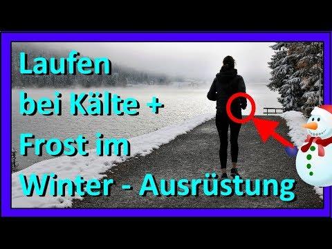 Laufen (Joggen) bei Kälte + Frost im Winter und bei Schnee: Die Ausrüstung