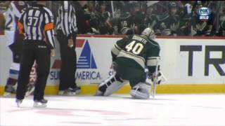 Davan Dubnyk Leaves Game with Injury vs Colorado