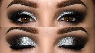 Classic Black Smokey Eye With Glitter Makeup Tutorial