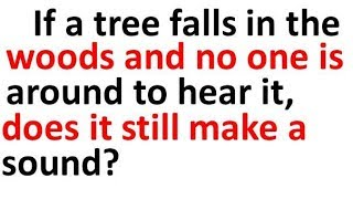 Trees Falling in Forests Riddle With All The Possible Answers