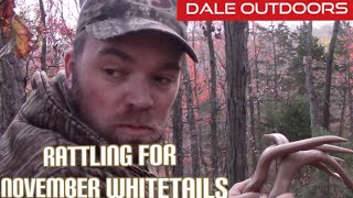 Rattling for November Whitetail Bucks