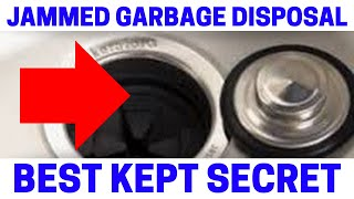 NEVER Fix A Jammed Garbage Disposal Until Watching This! Quick & Easy