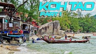 Koh Tao Thailand Part 1 - Sairee Beach and Beach Road on Koh Tao Thailand