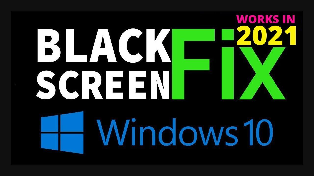 Fix a black screen after updating Windows 10