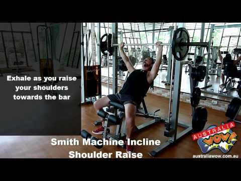 Smith Incline Shoulder Raise