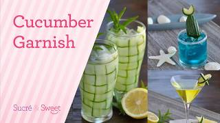 How To Make Simple Cucumber Cocktail Garnishes.