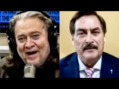 Even Steve Bannon Is Laughing in Mike Lindell's Dumb Face