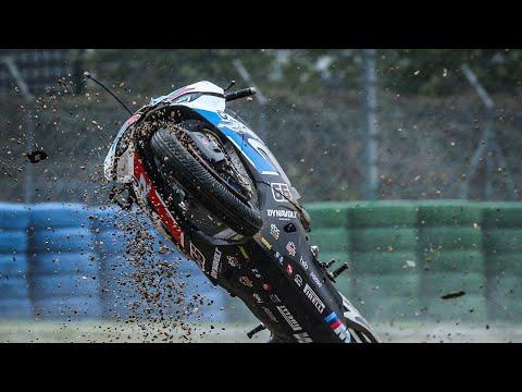 スタート直後にチームメイトを巻き込む転倒クラッシュをしてしまったBMWチームの悲劇。スーパーバイク世界選手権 第7戦フランス(マニクール・サーキット)