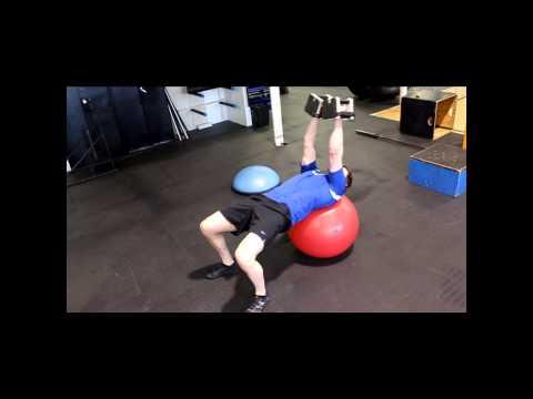 Skull Crusher Pullovers (on Stability Ball)