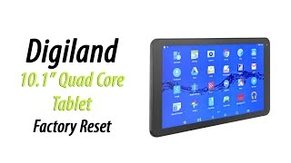 Digiland 10.1 Tablet DL1008M | How to Factory Reset