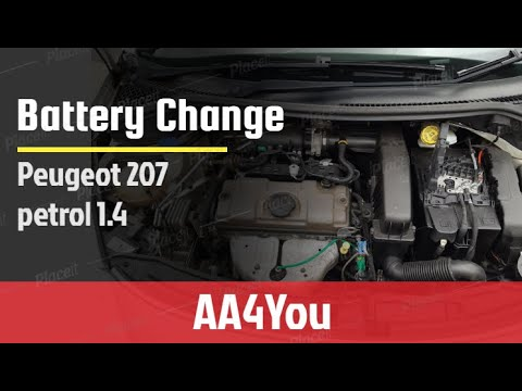 Peugeot 207: DIY How to change the battery in your car Peugeot 207