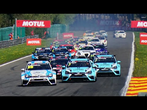 CRASHES + ACTION! TCR International at Spa-Francorchamps 2017