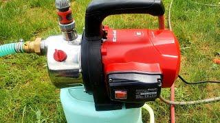 Einhell Gartenpumpe GC-GP 1046 N 1050 W 4600 Testen Wie siehet mann wenn Gartenpumpe wasser zieht