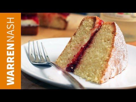 Video Victoria Sponge Cake Recipe - British Classic - Recipes by Warren Nash