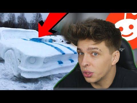 Udělali Mustanga ze sněhu!