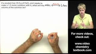 Molarity Practice Problems (Part 2)