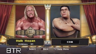 WWE Legends Of Wrestlemania Character Select Screen Including Imported SVR 2009 Superstars Roster