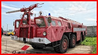 Soviet Airport Fire Truck. Extremely powerful machine