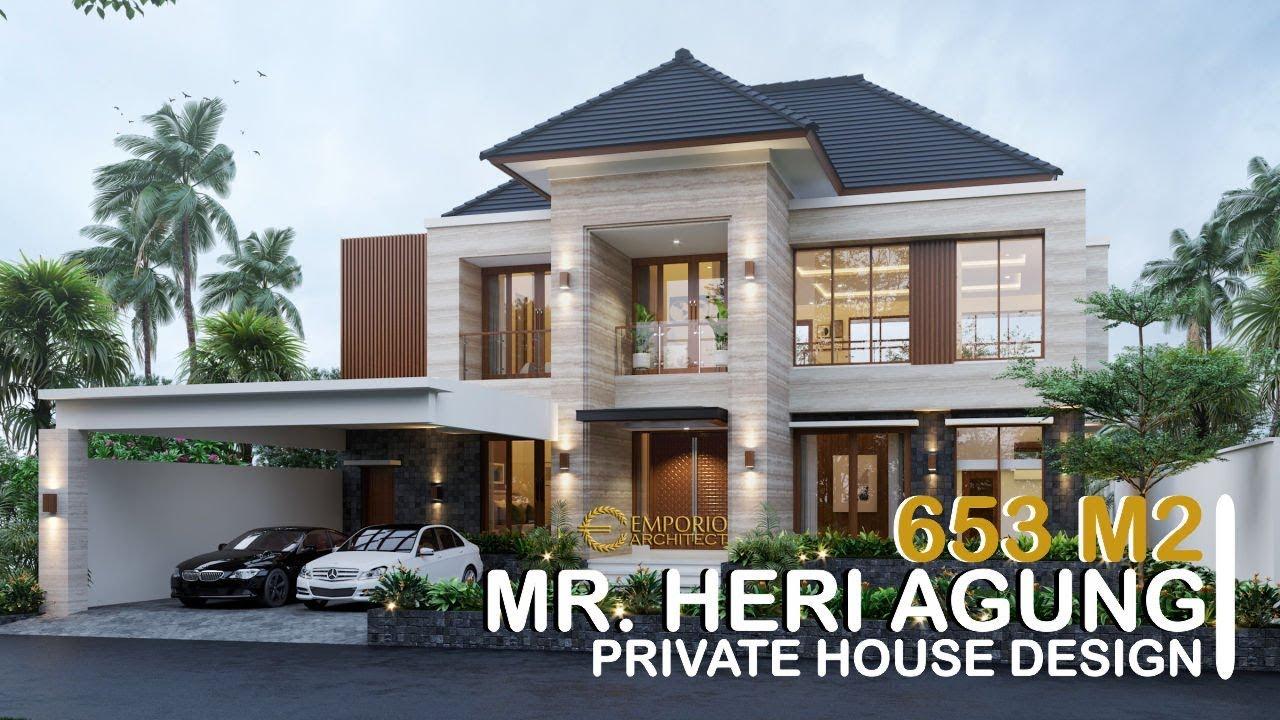 Video 3D Desain Rumah Modern 2 Lantai Bapak Heri Agung di Blora, Jawa Tengah
