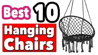 Best 10 Indoor Hanging Chairs For Bedroom White And Black Ceiling | Indoor Swing Chair With Stand