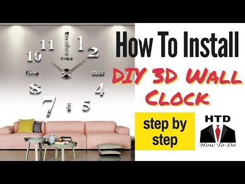 DIY 3D WALL CLOCK || Turn your wall into a big 3D wall clock