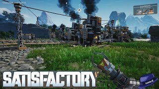 Lets Play SATISFACTORY - Part 02 - Fully Upgraded HUB - Satisfactory Gameplay Walkthrough