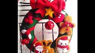 Felt Christmas Wreath  Removable Decorations  !