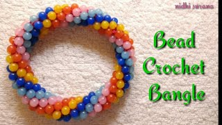 DIY Bangle |🏵Bead Crochet Rope Bangle 🏵 (0044)