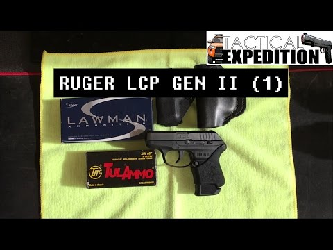 "[PART 1] Ruger LCP Gen II - ""Good Off Duty Gun"" Review 2016 Hogue Grip DeSantis Holster"