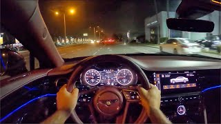 2020 Bentley Flying Spur POV Night Drive (3D Audio)(ASMR) by MilesPerHr