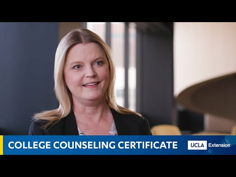 UCLA Extension: The College Counseling Certificate - YouTube