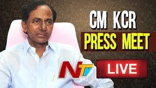 CM KCR Press Meet At TRS Bhavan Over Manifesto LIVE | KCR LIVE | NTV