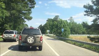 Driving in Williamsburg Virginia from Interstate 64 to Yankee Candle Factory