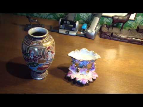 Antikglas, Vasen und Schalen