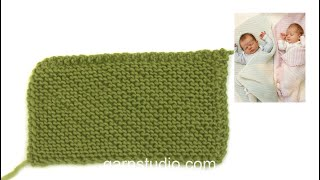 How to knit a blanket from corner to corner