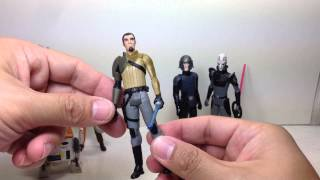 Inquisitor, Agent Kallus, Kanan Jarus, Chopper, Ezra Bridger Star Wars Rebels Saga Legends Toy Revie